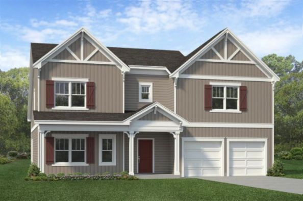 Exterior featured in The Norman By ExperienceOne Homes, LLC in Raleigh-Durham-Chapel Hill, NC