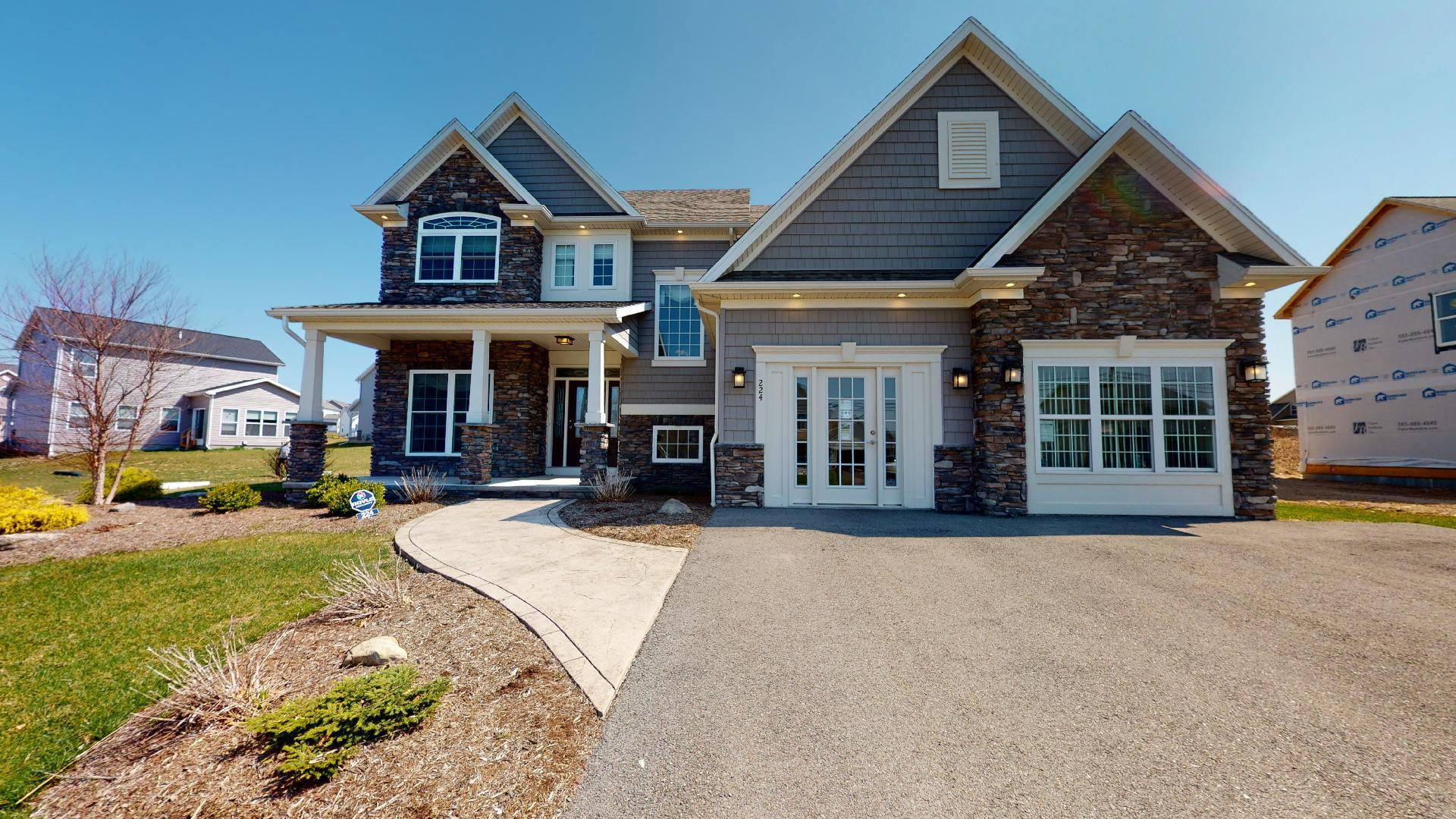 Exterior featured in the McMillon By Faber Builders in Rochester, NY