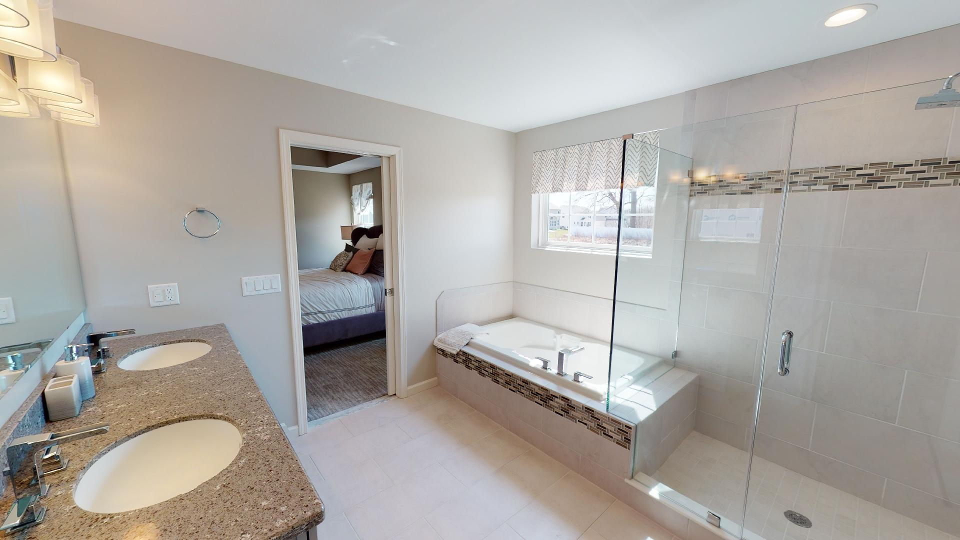 Bathroom featured in the McMillon By Faber Builders in Rochester, NY