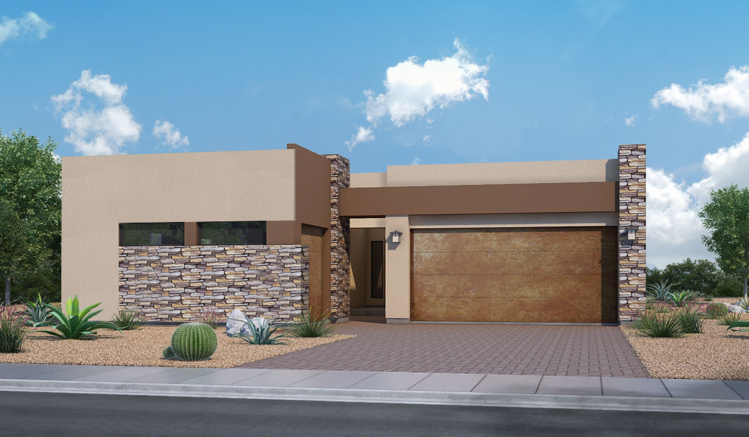 Exterior featured in the Rosewood E By Fairfield Homes in Tucson, AZ