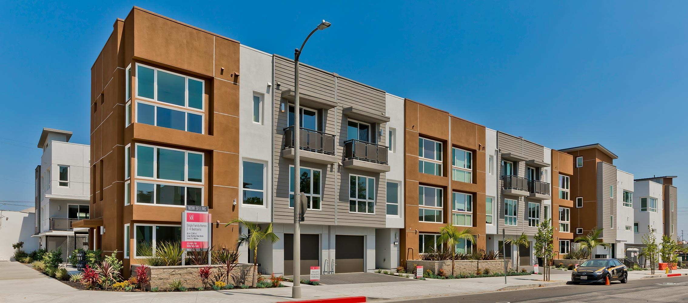 Exterior featured in the Plan 3 By Family Development Group in Los Angeles, CA
