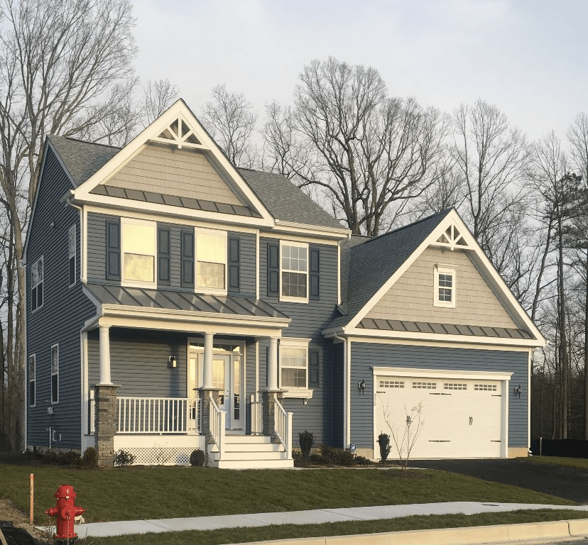 Exterior featured in the Harrison By Fernmoor Homes in Sussex, DE