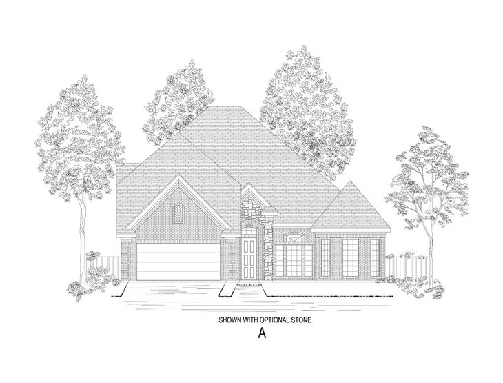 Elevation A:Shown with optional stone.