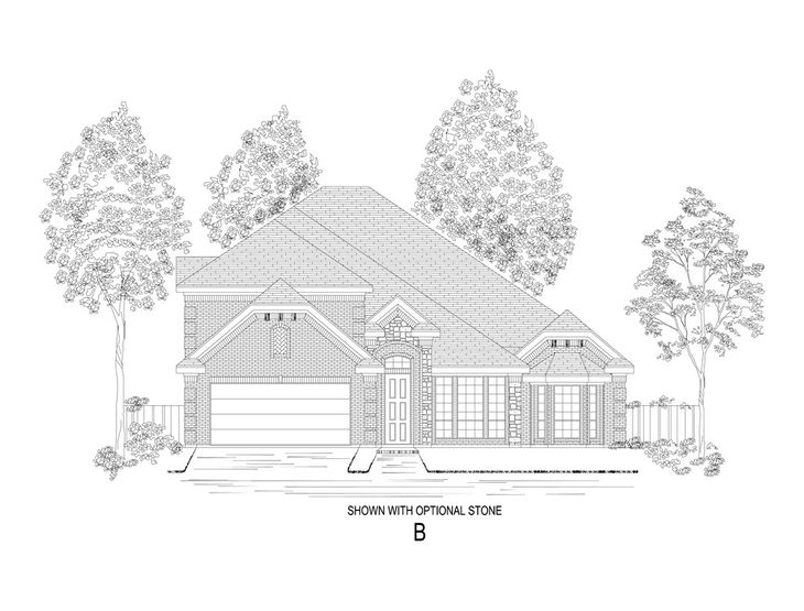 Elevation B:Shown with optional stone.