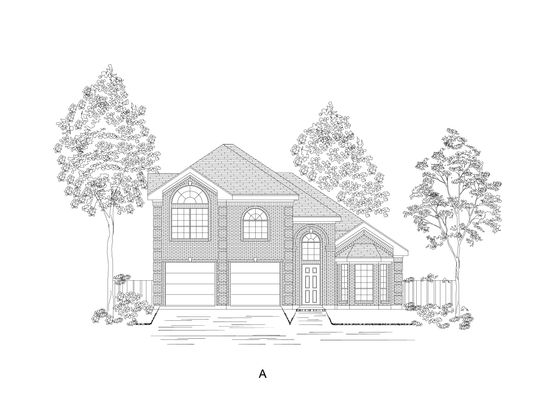 Elevation A:Standard Elevation - Shown with optional bay window.