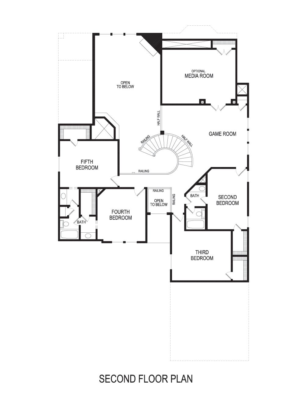 Bellacrest FSW (w/Media) Home Plan by First Texas Homes in