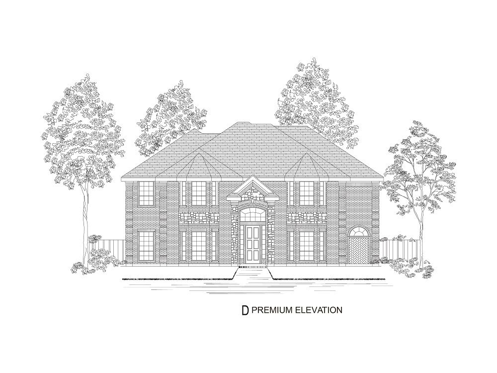 Exterior featured in the Brookfield II R By First Texas Homes in Dallas, TX