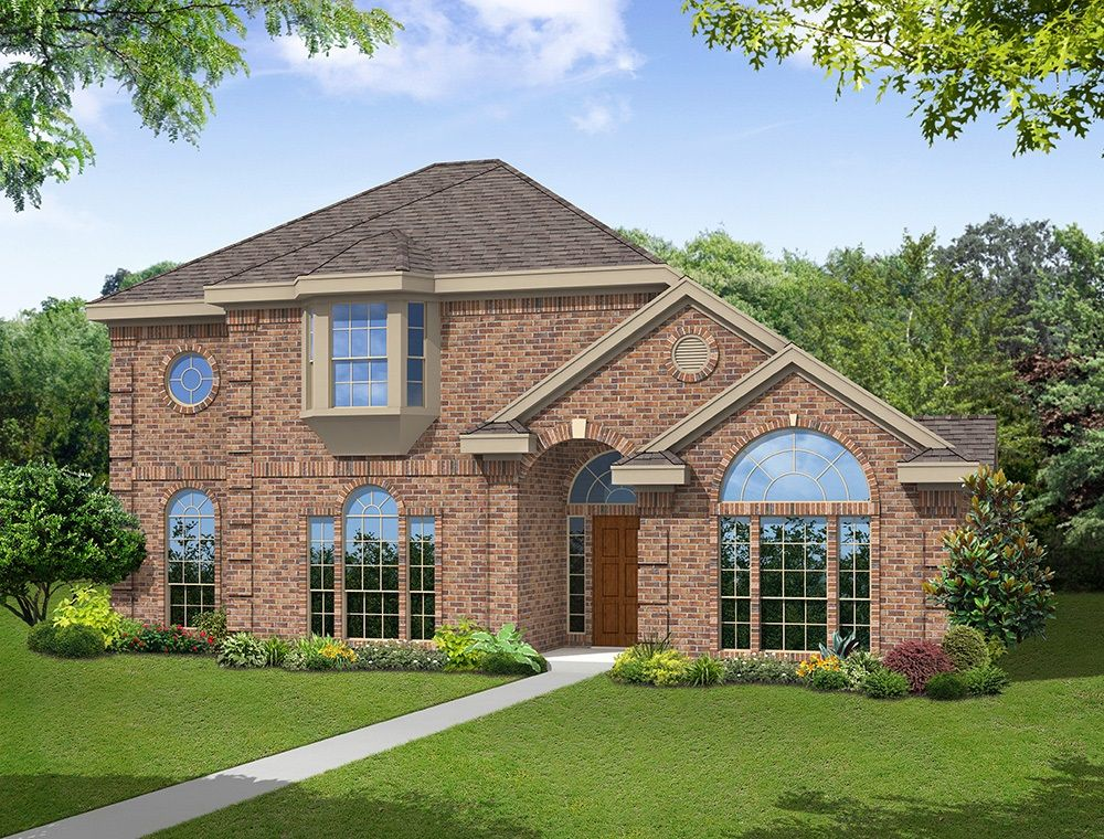 Exterior featured in the Brighton 44 R By First Texas Homes in Dallas, TX