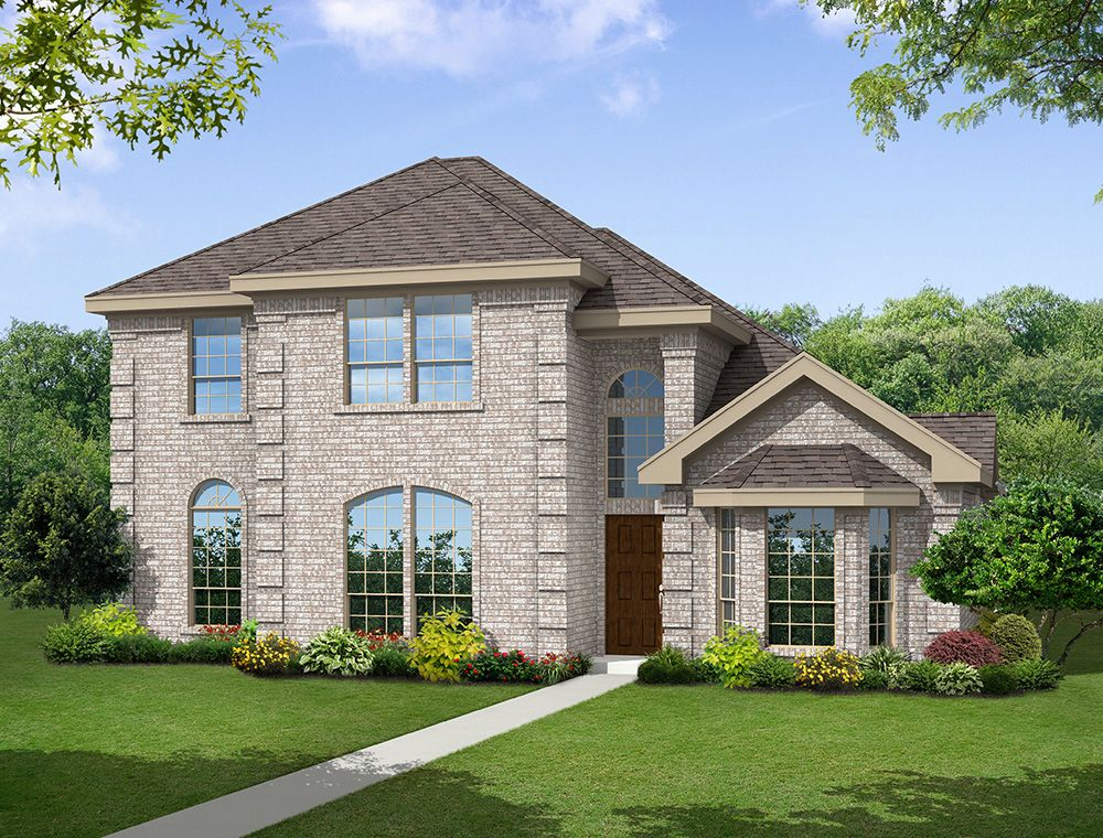 Exterior featured in the Brighton 40 R By First Texas Homes in Dallas, TX