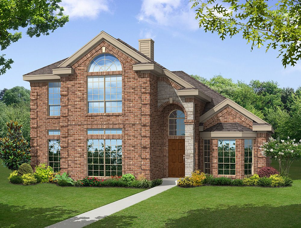 Exterior featured in the Brittany 40 R By First Texas Homes in Dallas, TX