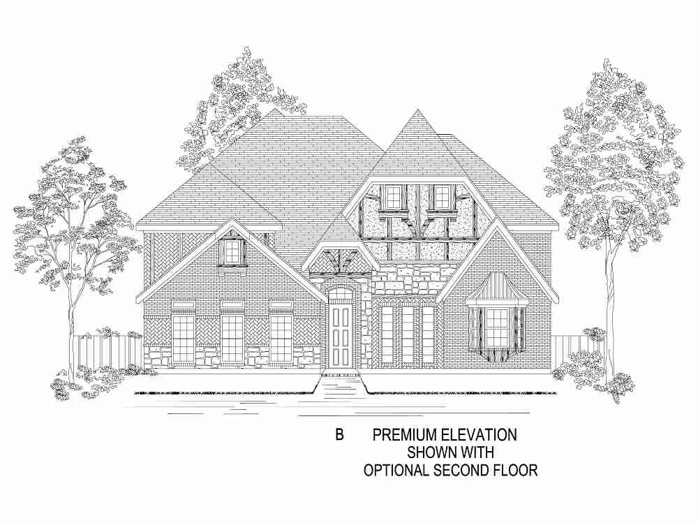 Elevation B - With Optional 2nd Floor
