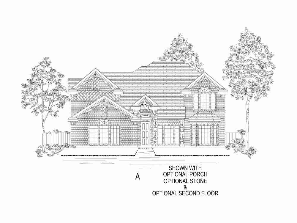 Elevation A - With Optional 2nd Floor