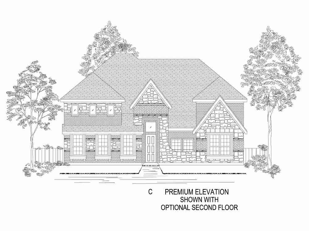 Elevation C - With Optional 2nd Floor