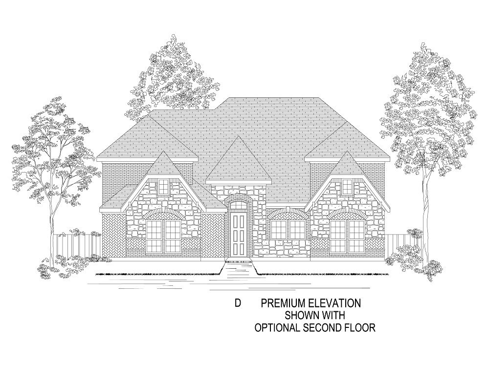 Elevation D - With Optional 2nd Floor