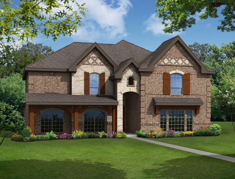 Exterior featured in the Brentwood R (w/Media) By First Texas Homes in Dallas, TX