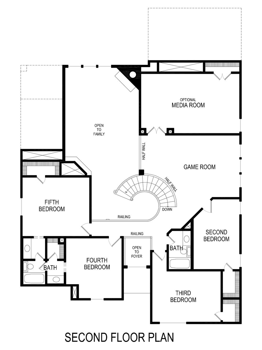60 u0026 39  brentwood r  w  media   mc home plan by first texas homes in mercer crossing west