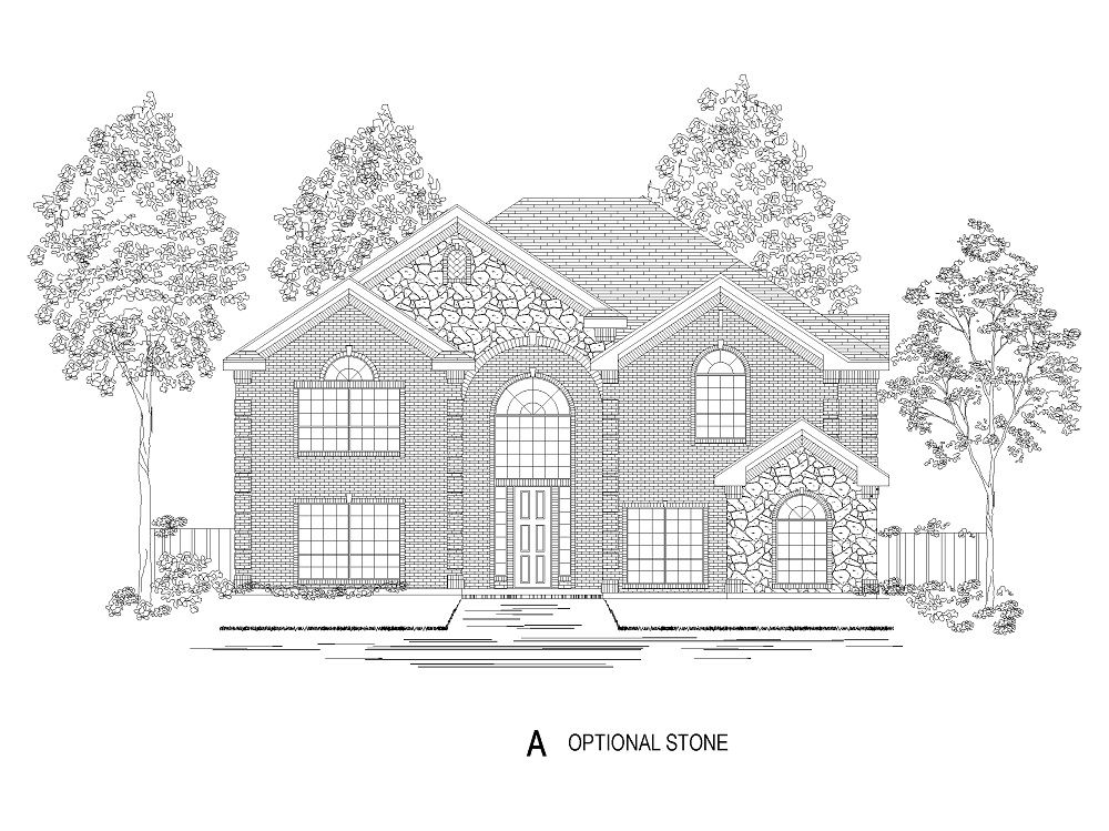 Exterior featured in the Monticello R (w/Media) By First Texas Homes in Dallas, TX
