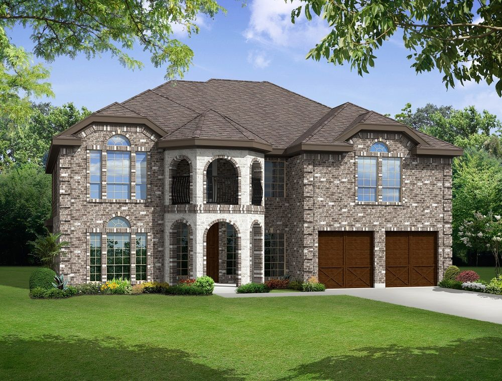 Exterior featured in the Newport F By Gallery Custom Homes in Dallas, TX