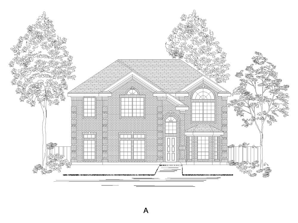 Exterior featured in the Princeton R By First Texas Homes in Dallas, TX