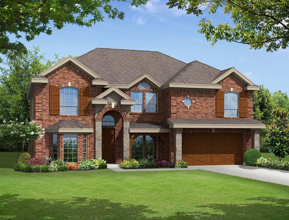 Exterior featured in the Stonehaven F By Gallery Custom Homes in Fort Worth, TX