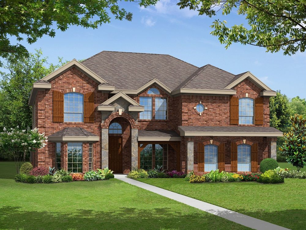 Exterior featured in the Stonehaven R By First Texas Homes in Dallas, TX