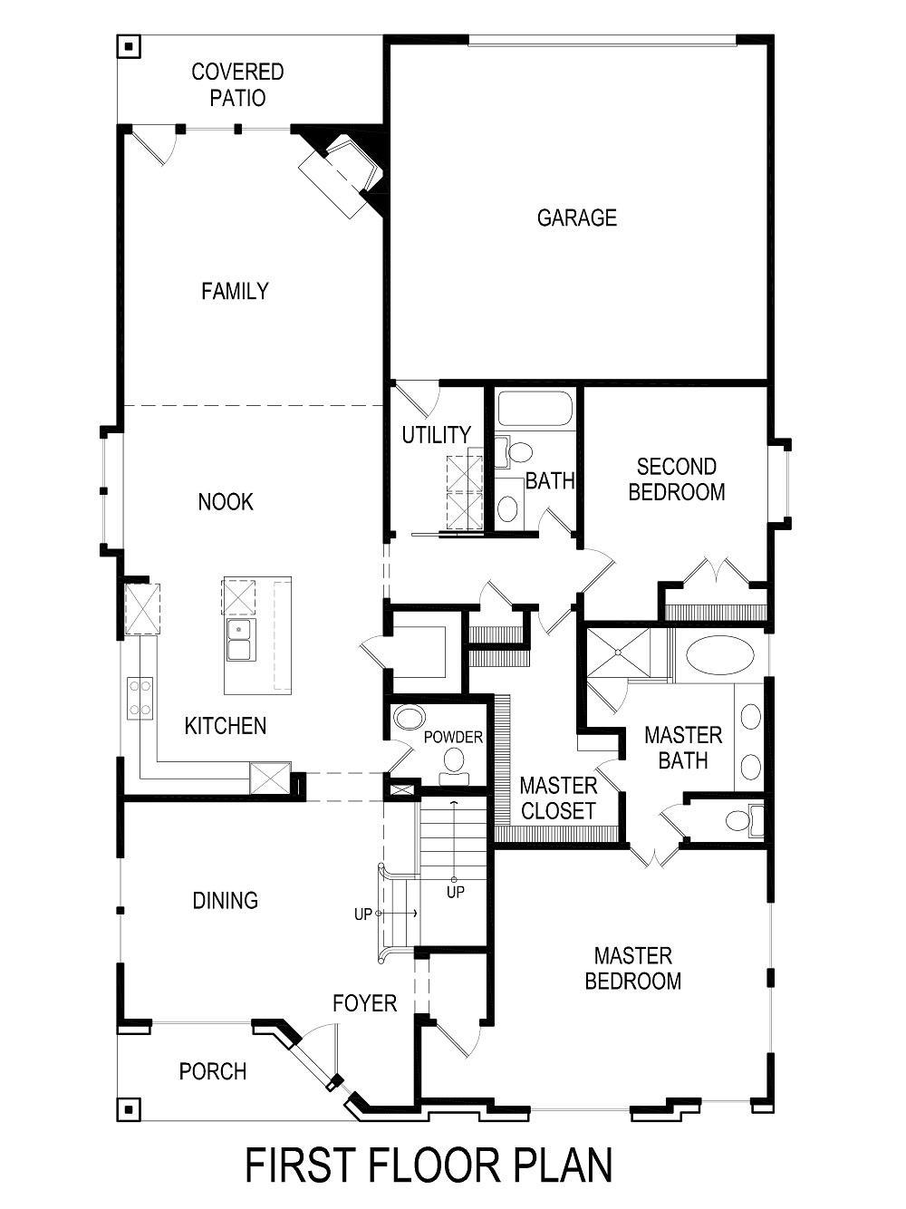 Overton R (w/Media) Home Plan by First Texas Homes in