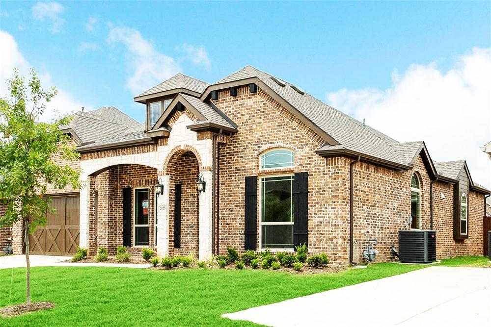 Exterior featured in the Seville 2428 F By First Texas Homes in Dallas, TX