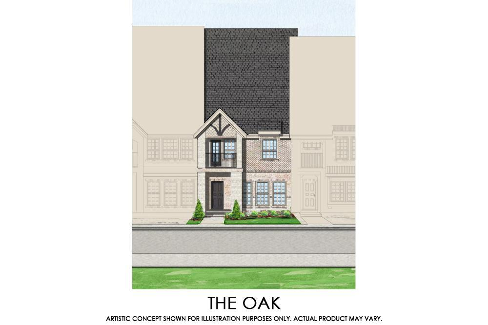Exterior featured in the Oak - TH By First Texas Homes in Dallas, TX