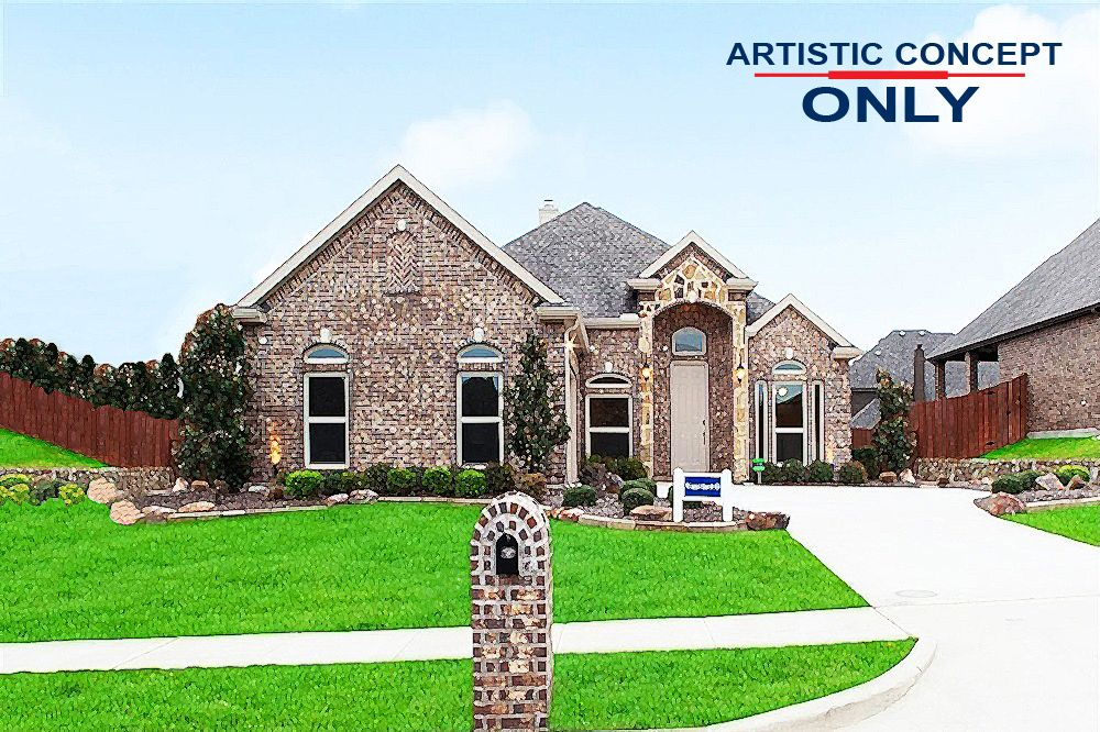 Exterior featured in the Waterford II FSW By First Texas Homes in Dallas, TX