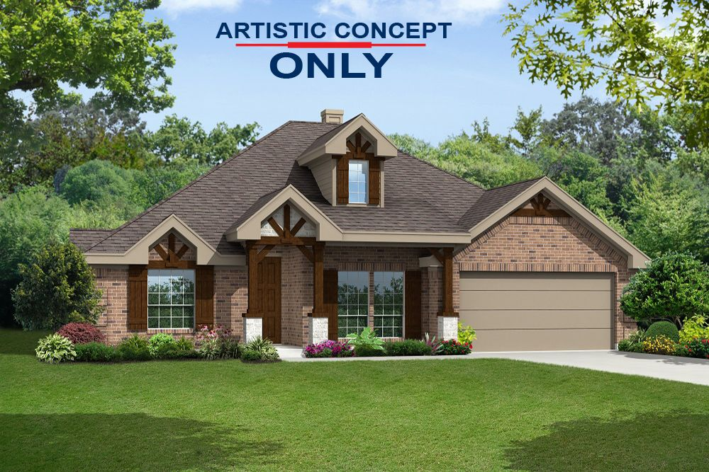 Exterior featured in the Seville 2323 F By First Texas Homes in Dallas, TX