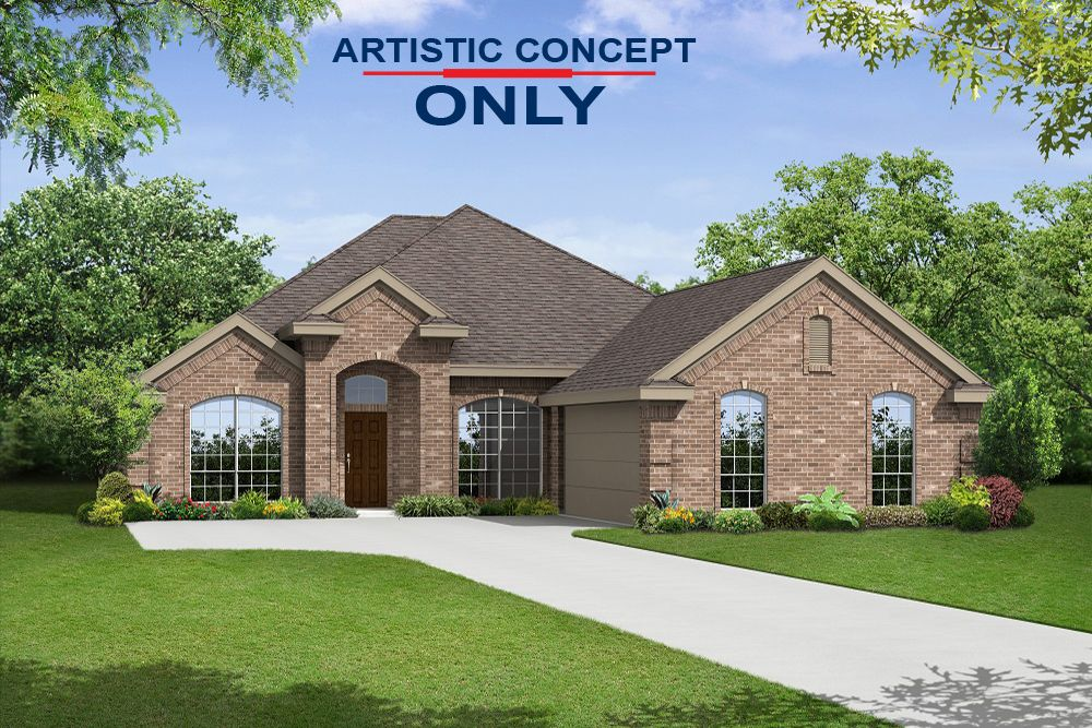 Exterior featured in the Westchester 2410 FSW By First Texas Homes in Dallas, TX