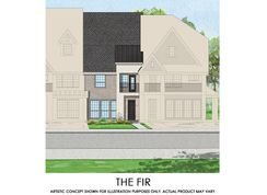 Fir - TH - Mercer Crossing – Kensington Townhomes: Farmers Branch, Texas - First Texas Homes