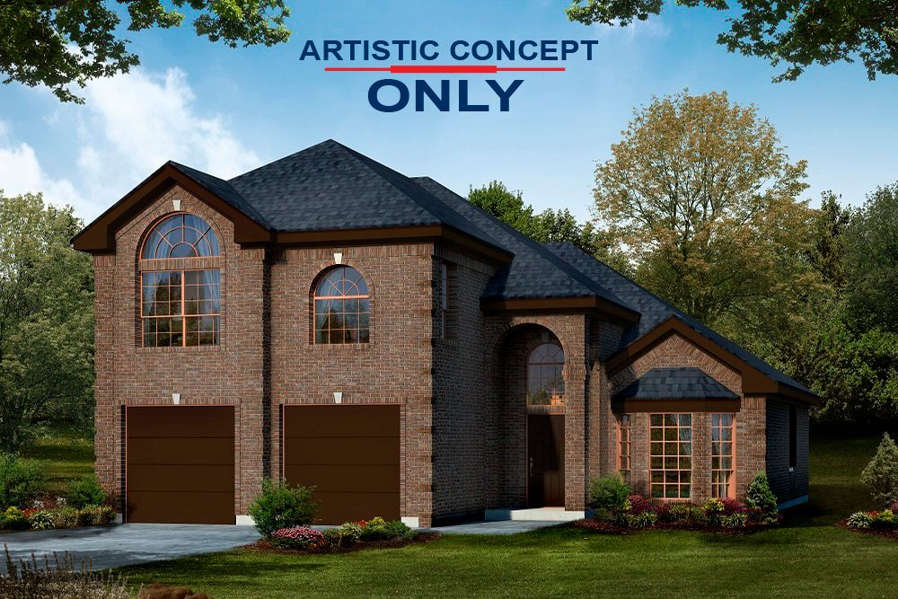 Exterior featured in the Brittany 40 F By First Texas Homes in Dallas, TX