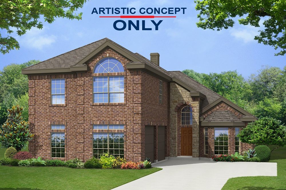 Exterior featured in the Brittany 40 FSW By First Texas Homes in Dallas, TX