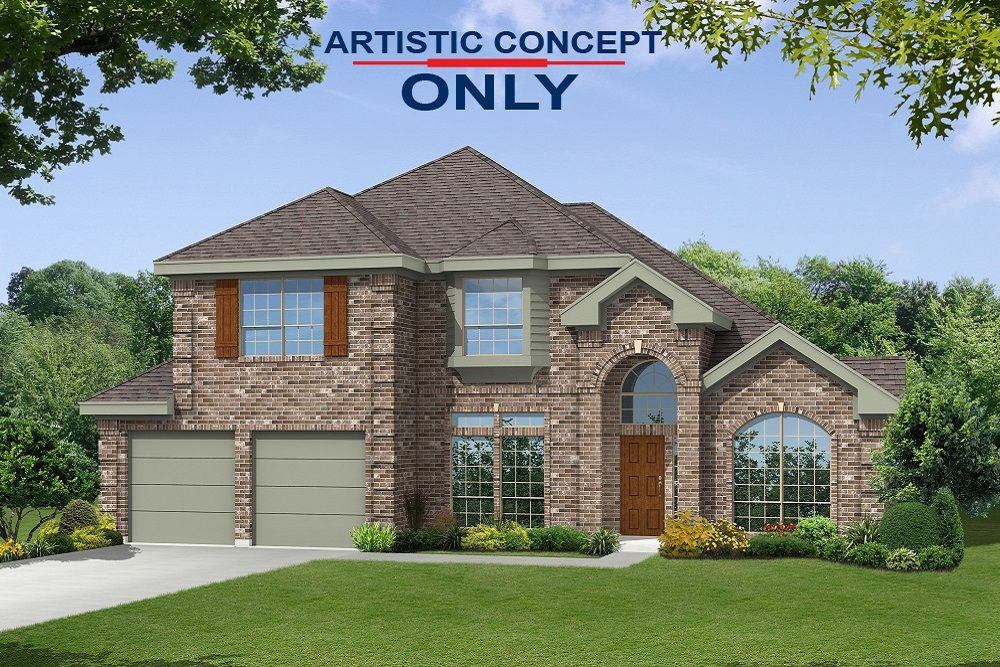 Exterior featured in the Bradford F By First Texas Homes in Dallas, TX