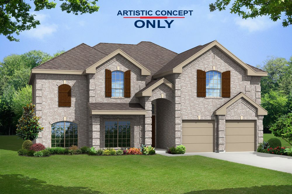 Exterior featured in the Brentwood II F (w/Media) By First Texas Homes in Fort Worth, TX