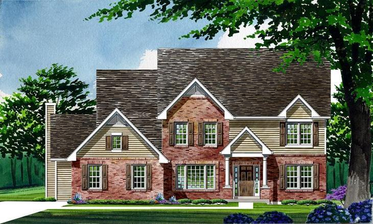 Exterior:Waterford - Woods at Cottleville Trail | Estate | Elevation II