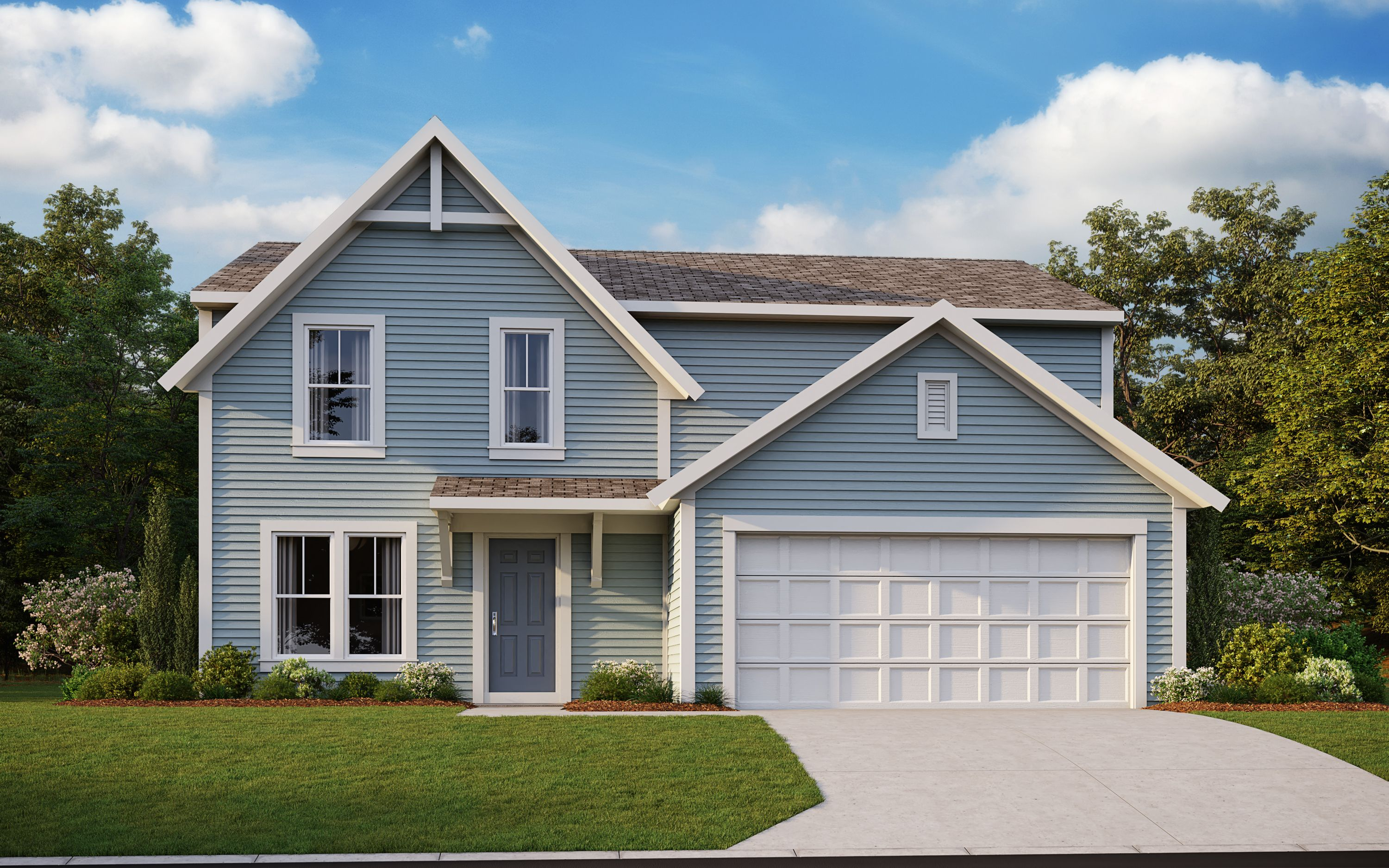 Exterior featured in the Greenbriar By Fischer Homes  in Louisville, KY