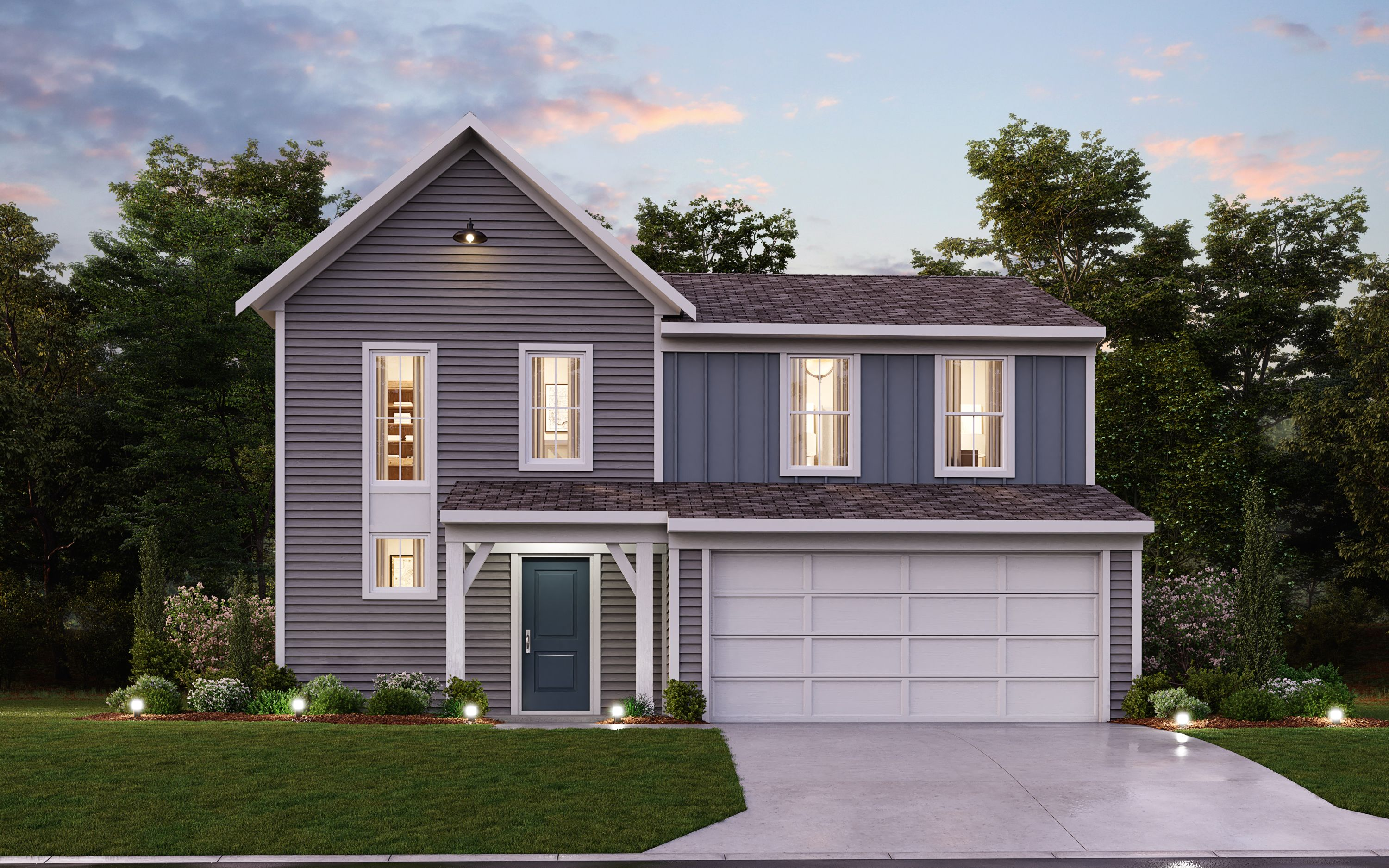 Exterior featured in the Danville By Fischer Homes  in Dayton-Springfield, OH