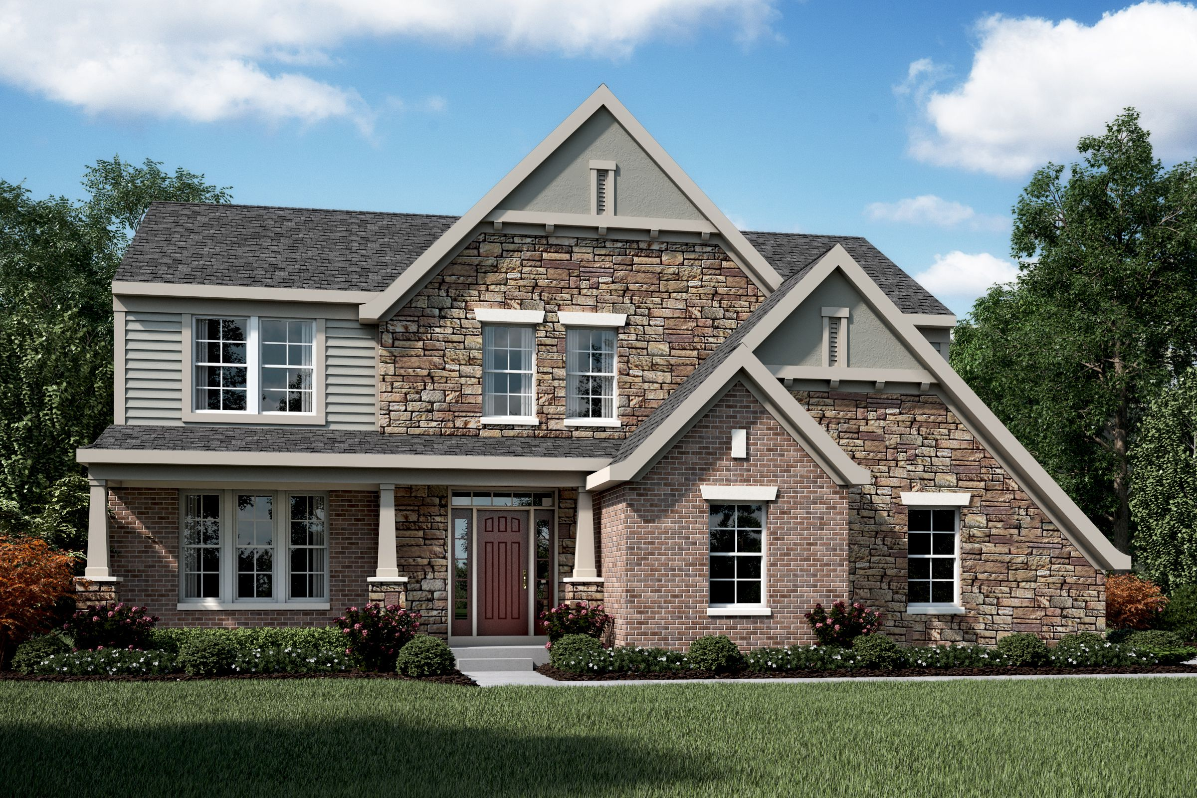 Exterior featured in the Blake By Fischer Homes  in Columbus, OH