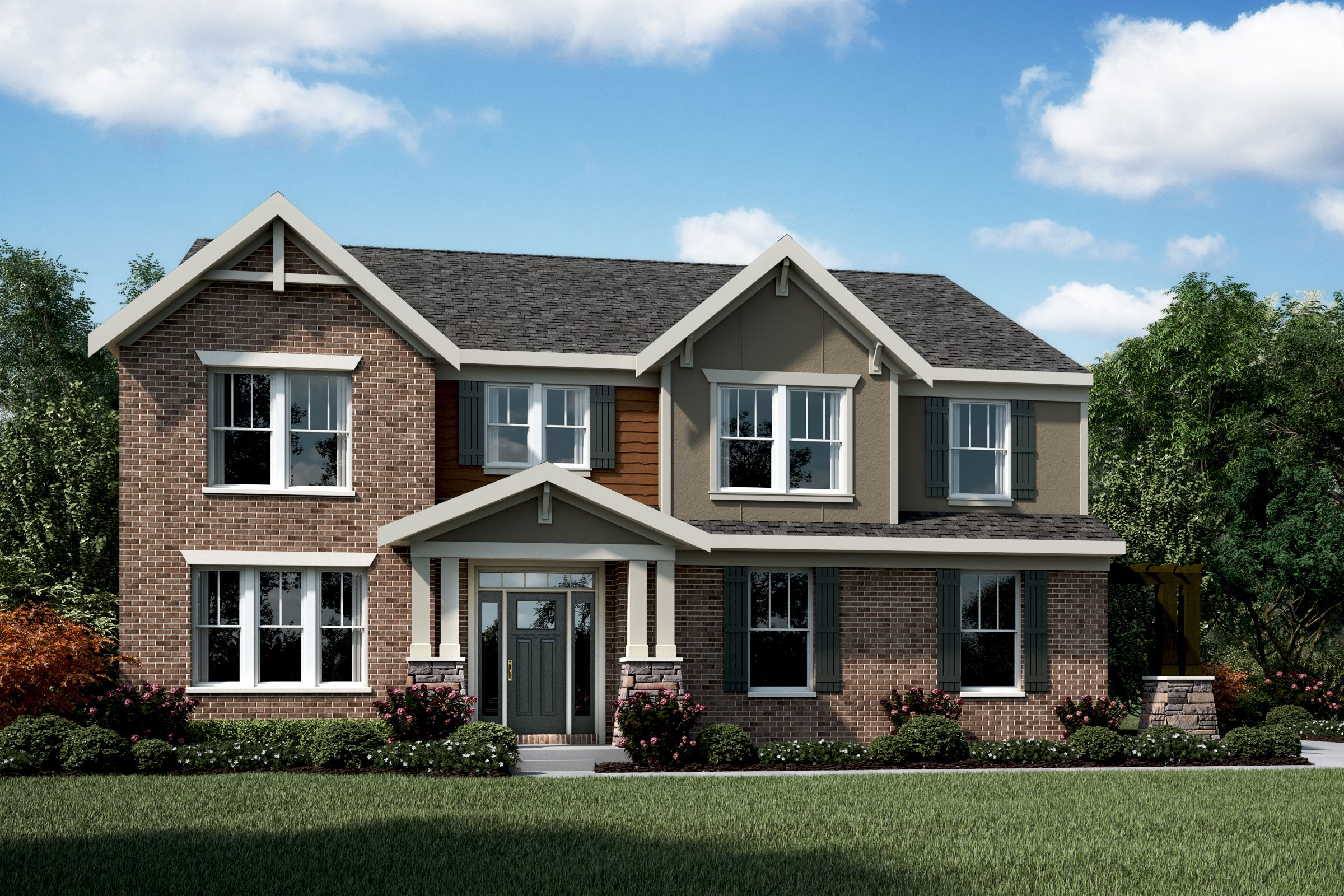 Exterior featured in the Andover By Fischer Homes  in Cincinnati, KY