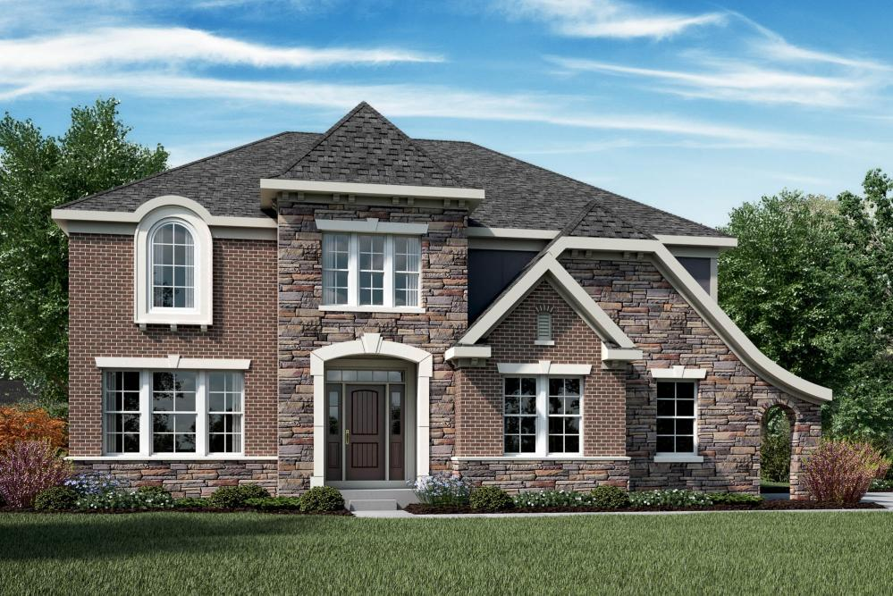 Exterior featured in the Marshall By Fischer Homes  in Columbus, OH