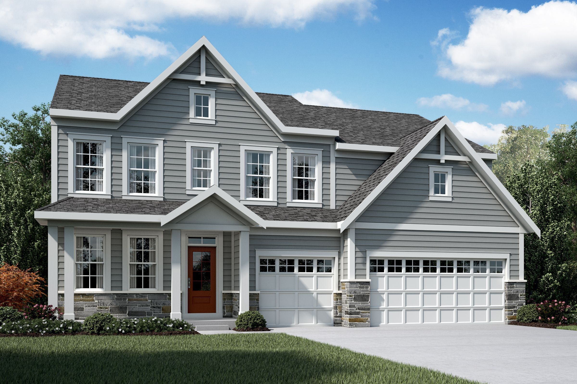 Exterior featured in the Mitchell By Fischer Homes  in Columbus, OH