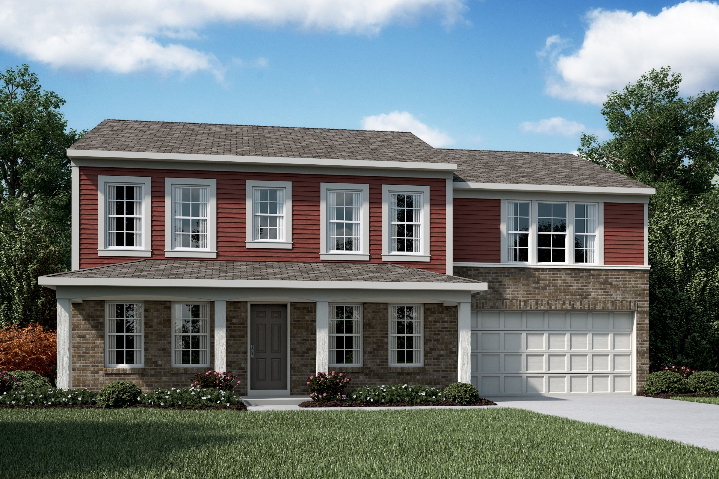Exterior featured in the Denali By Fischer Homes  in Louisville, KY