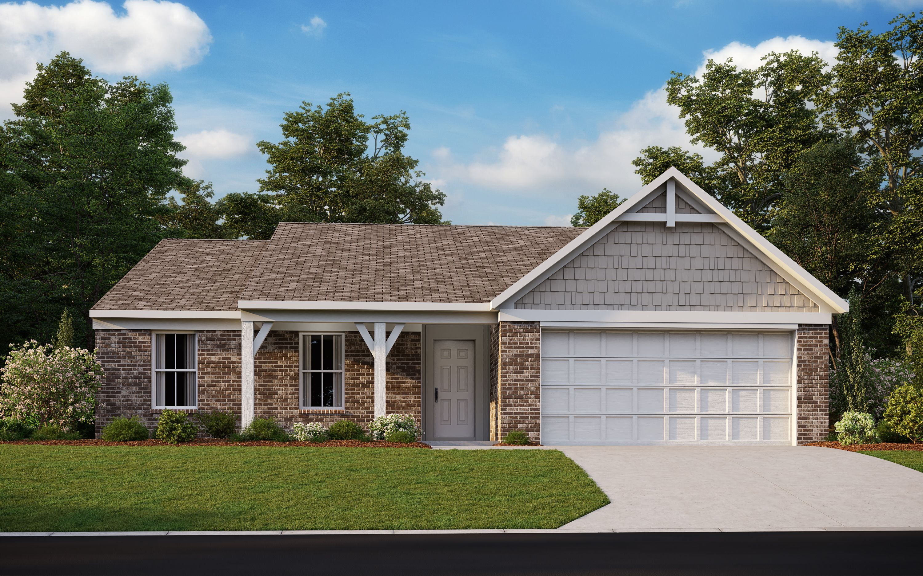 Exterior featured in the Preston By Fischer Homes  in Dayton-Springfield, OH