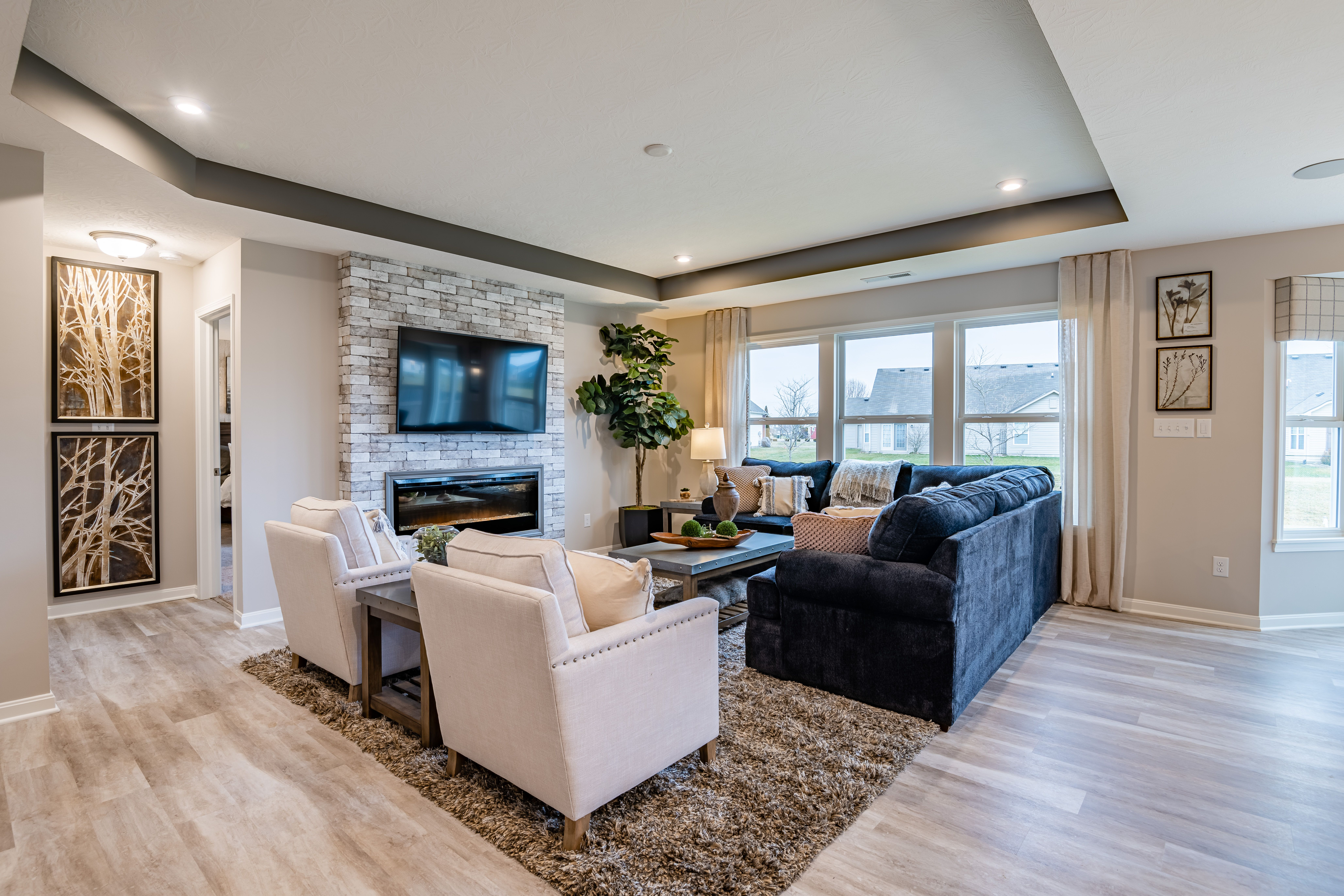 Living Area featured in the Preston By Fischer Homes  in Dayton-Springfield, OH