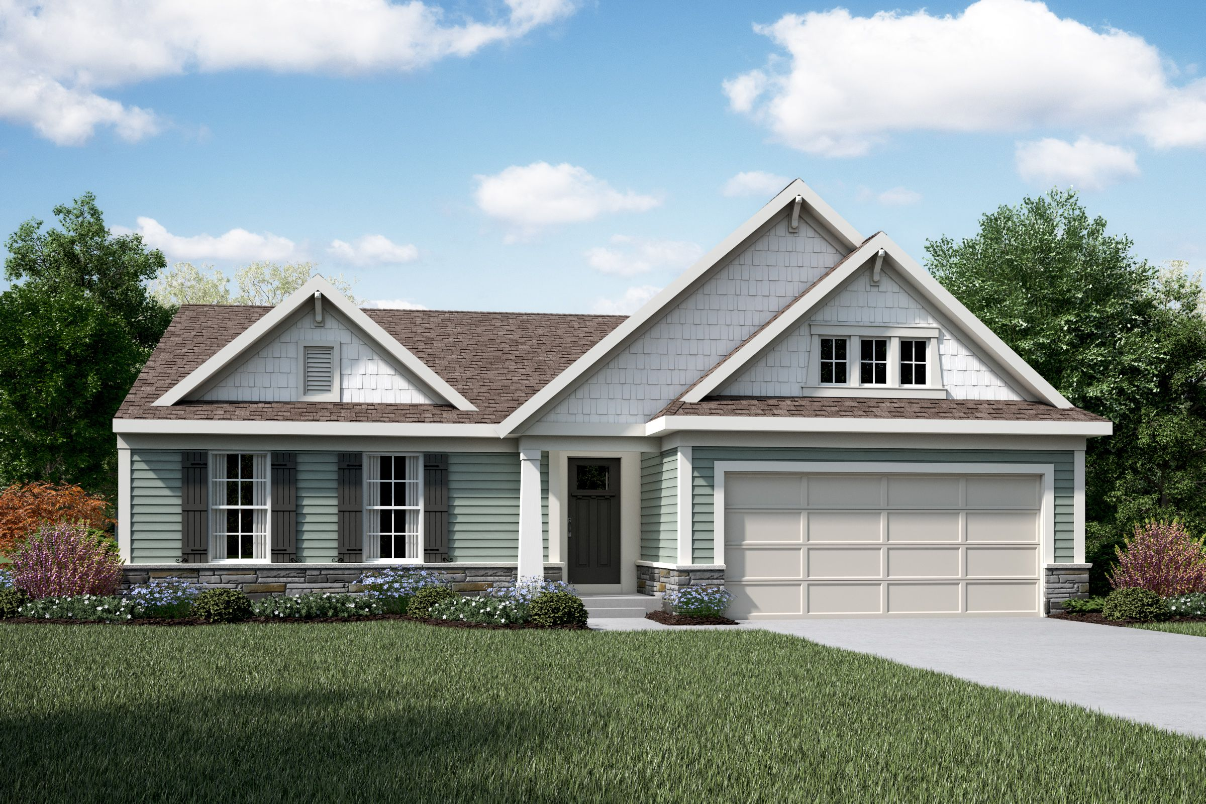 Exterior featured in the Magnolia By Fischer Homes  in Louisville, KY