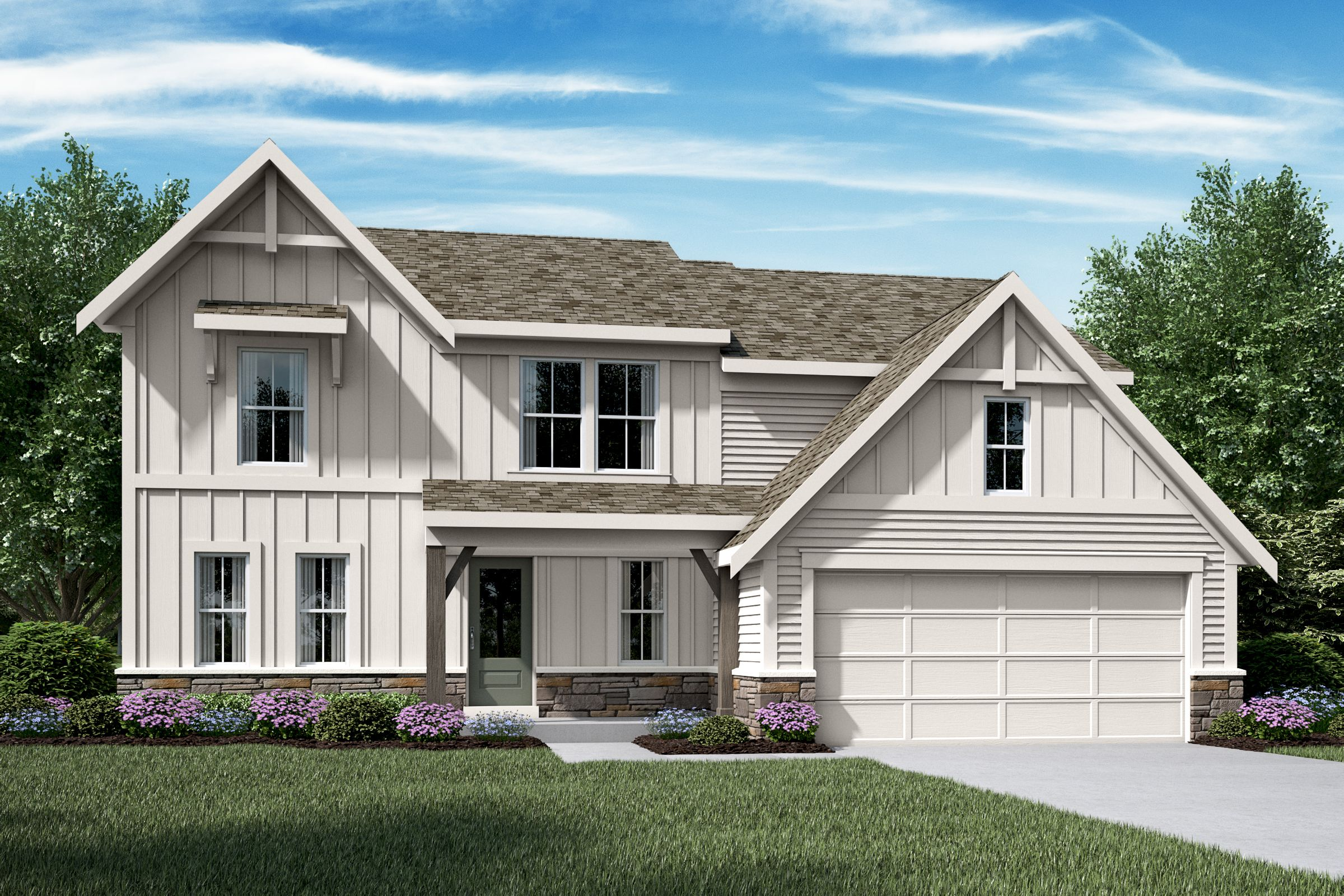 Exterior featured in the Avery By Fischer Homes  in Louisville, KY