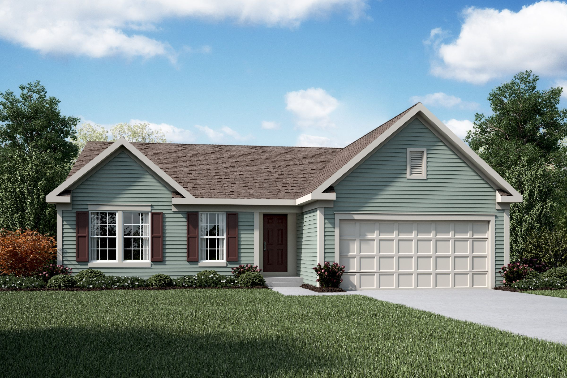 Exterior featured in the Springfield By Fischer Homes  in Louisville, KY