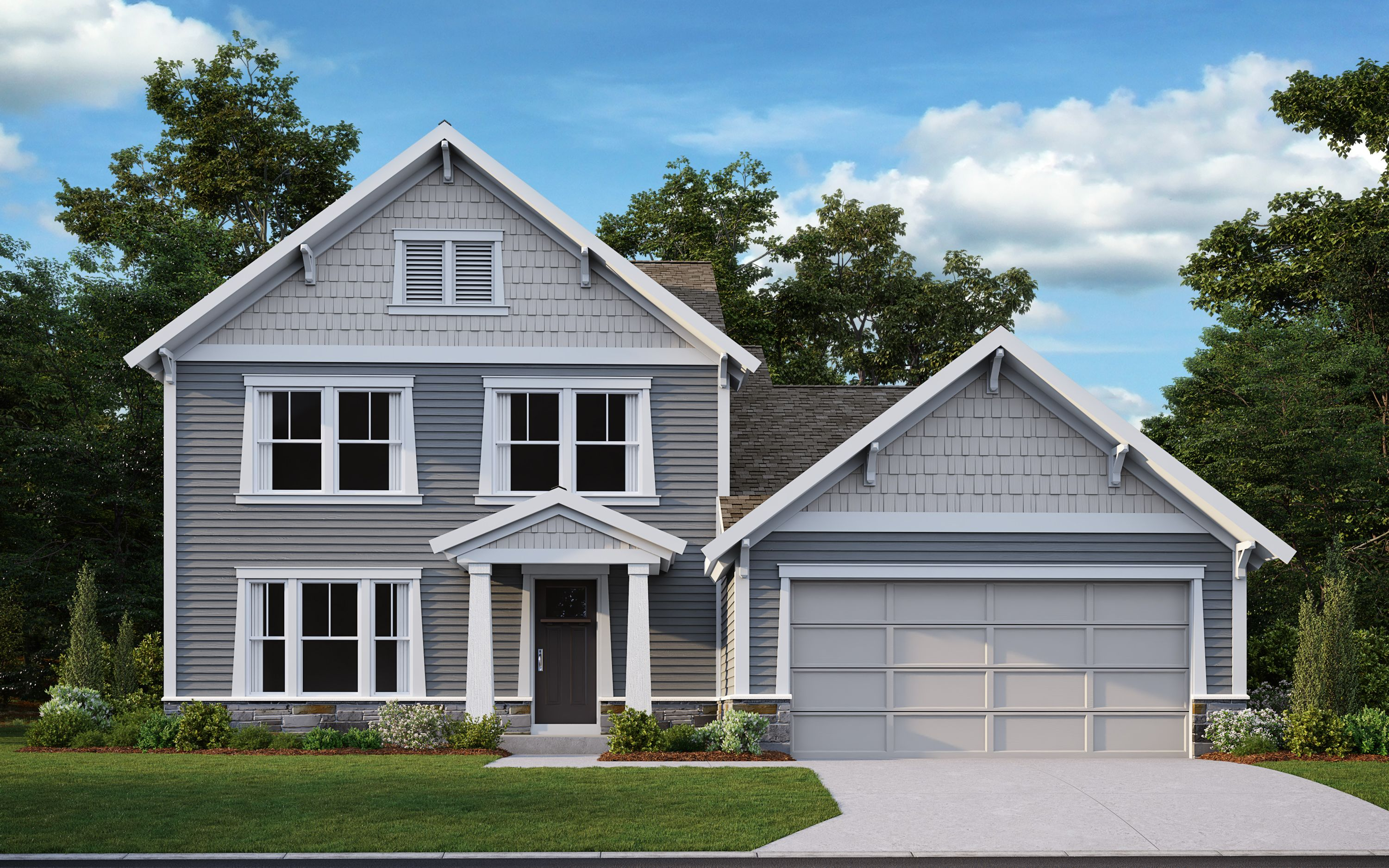 Exterior featured in the Charles By Fischer Homes  in Louisville, KY